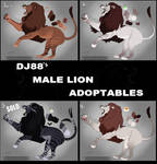 Male Lion Adoptables $30 by DJ88