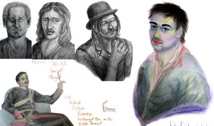 1-2 Hour sketches by Uranus-seventhsun