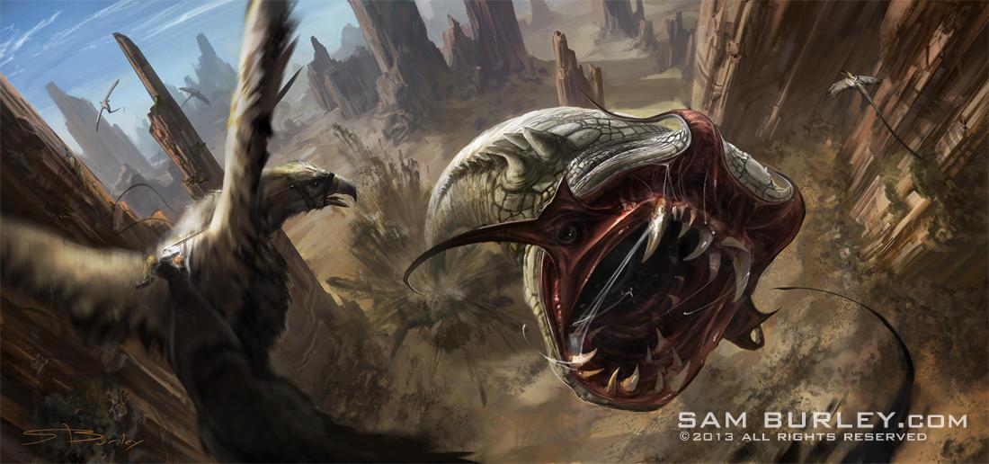 Gorge Wurm by samburley