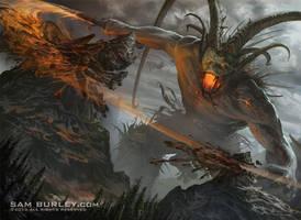 Surtr, Fire of Ragnarok by samburley