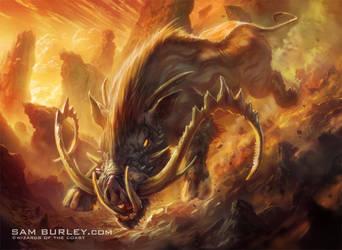 MTG: Bladetusk Boar by samburley