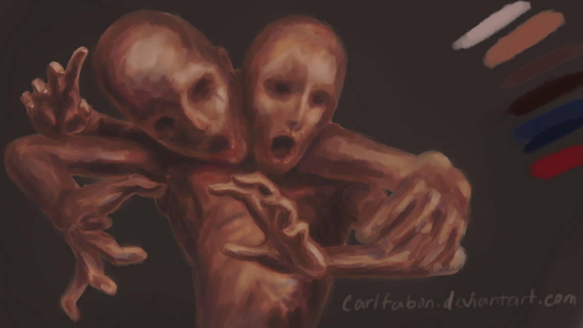 Conjoined (Pentab Practice) by carlfabon
