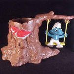Smurf on a Swing by acla13