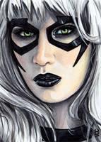 Black Cat Sketch Card 3 by veripwolf