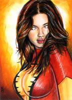 Dark Phoenix Sketch Card 3 by veripwolf