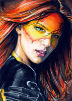 Firestar Sketch Card 3 by veripwolf
