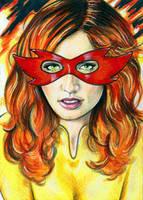Firestar Sketch Card 4 by veripwolf