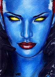 Mystique Sketch Card 8 by veripwolf
