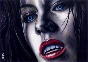 Underworld Selene Sketch Card by veripwolf