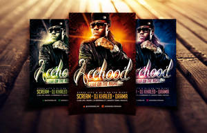 Acehood Rap Hip Hop flyer by Dannygdesigns