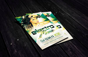 Electro Music Flyer Template by Dannygdesigns