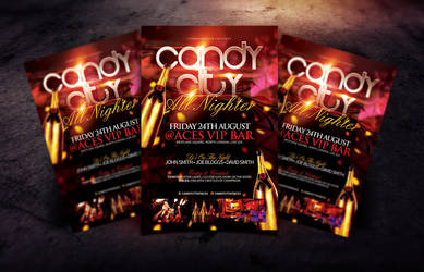 Candy City V.I.P Flyer Template by Dannygdesigns