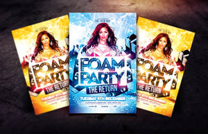 Foam Party The Return Flyer Template by Dannygdesigns
