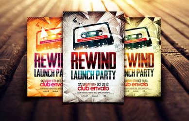 Rewind Launch Party Flyer Template by Dannygdesigns