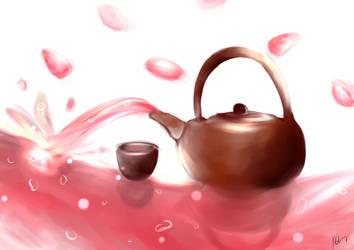 Pink Tea by SteampoweredMatoki
