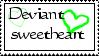 deviantSweetheart stamp by KittyGreenEyes