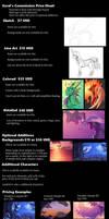Sorel's Commission Price Sheet by Sorelstrasz