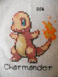Charmander Cross Stitch by Mickeycricky