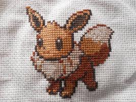 Eevee Cross Stitch by Mickeycricky