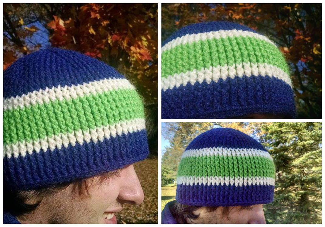 Seattle Seahawks Chunky Crochet Hat By Mickeycricky On Deviantart