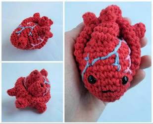 [February 2018] Club Crochet - Anatomical Heart by Mickeycricky
