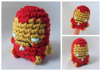 [May 2018] Club Crochet - Finger Puppet Iron Man by Mickeycricky