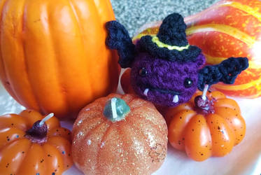 Amigurumi Crochet Halloween Bat by Mickeycricky