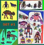 Nava-Verse Archives #25: Creatures Set 1 by MolemanNineThousand