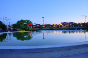 Space needle from lake union park by avatare