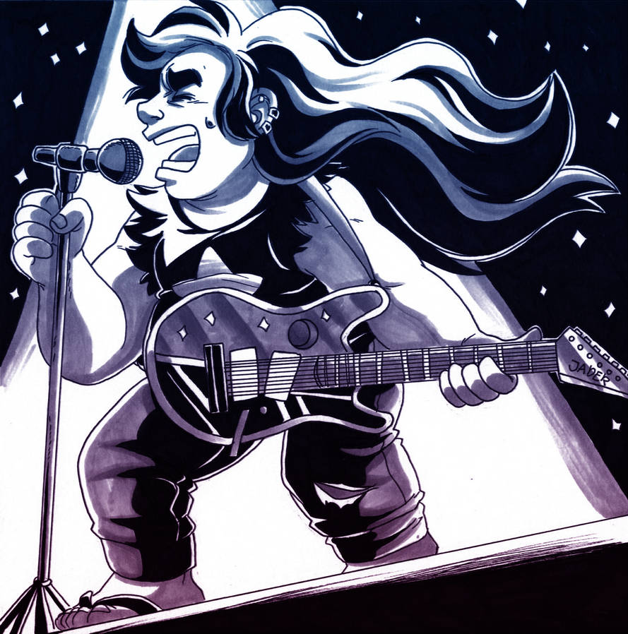 "I did this for the Inktober day 13! I never drew younger greg before so here he is!  ""But the moment that I hit the stage, thousands of voices are calling my name. And I know in my heart..."