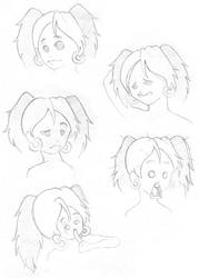 Sketch - Debbie by pearlystar
