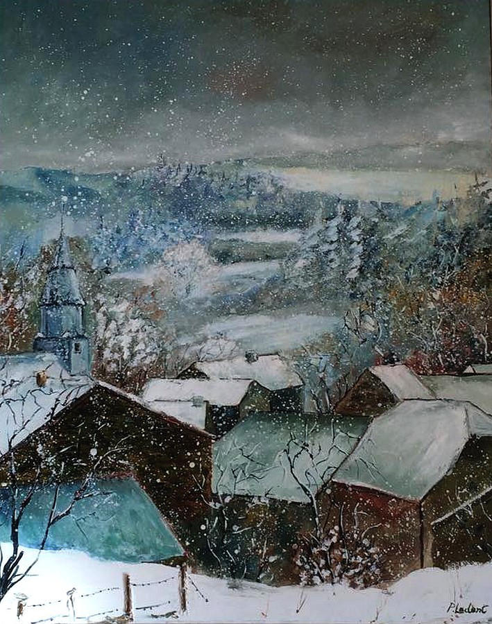 Snow in Ouroy by pledent