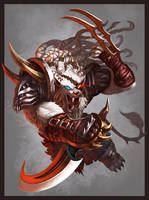 Rengar _ League of Legends by DeadManAwake