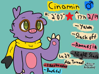 Cinamin the Shiny Slakoth! by CinaminBunLike2Draw