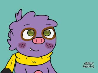 Blueberry Sloth by CinaminBunLike2Draw