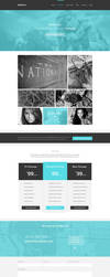 Radical a Single Page PSD Template by the-webdesign