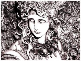 Goth Angel Face by bibiana-tenebra