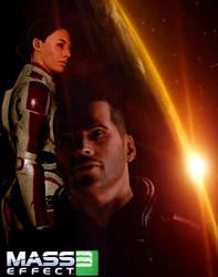 Mass Effect 3 - Shepley by IndigoWolfe