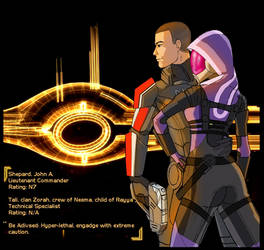Niel's Shep+Tali Request by IndigoWolfe