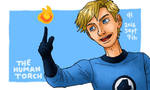 Marvel, The Human Torch by Cesar-Hernandez