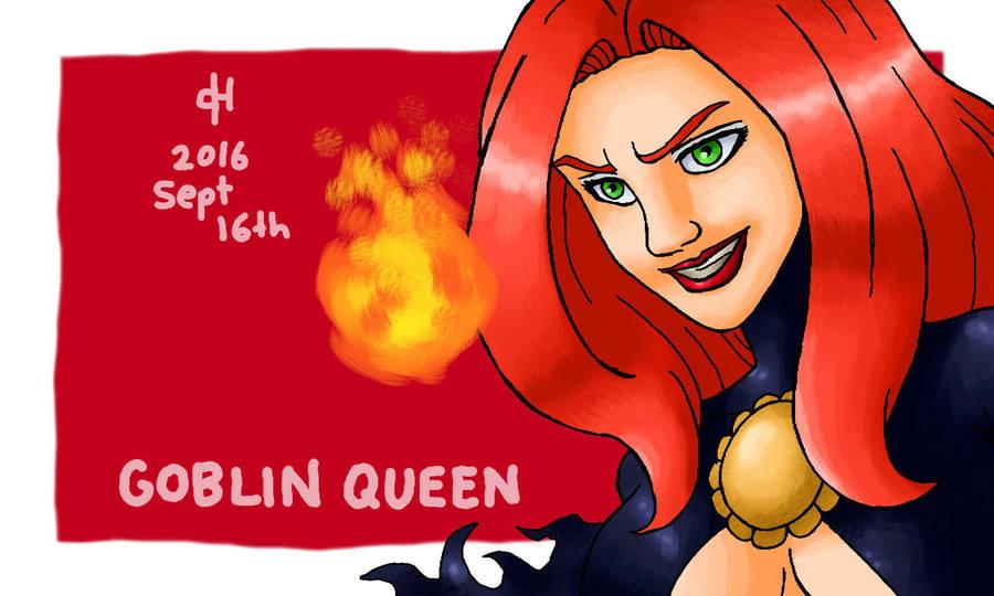 Marvel, Goblin Queen by Cesar-Hernandez