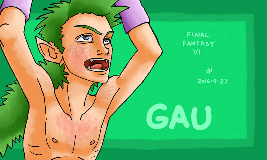 Final Fantasy, Gau by Cesar-Hernandez