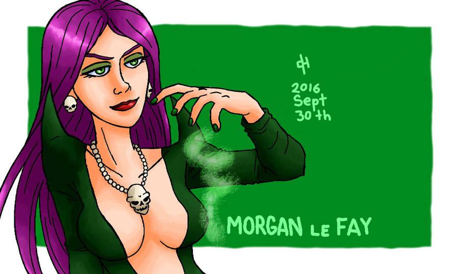 Marvel, Morgan le Fay by Cesar-Hernandez