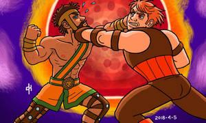 Commission 0061, Hercules and Juggernaut by Cesar-Hernandez