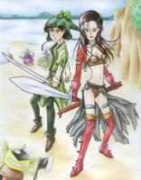 Swordswoman dancer Aira by Cesar-Hernandez