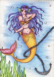 tangled mermaid by zealah