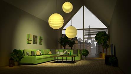 Interior livingroom design (LOWPOLY) by NoNArtArtist