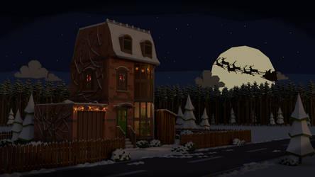 Christmas scene (LOWPOLY) by NoNArtArtist