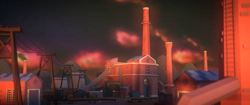 Old industrial scenery (LOWPOLY) by NoNArtArtist