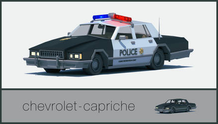 Police car (chevrolet-capriche) (LOWPOLY) by NoNArtArtist